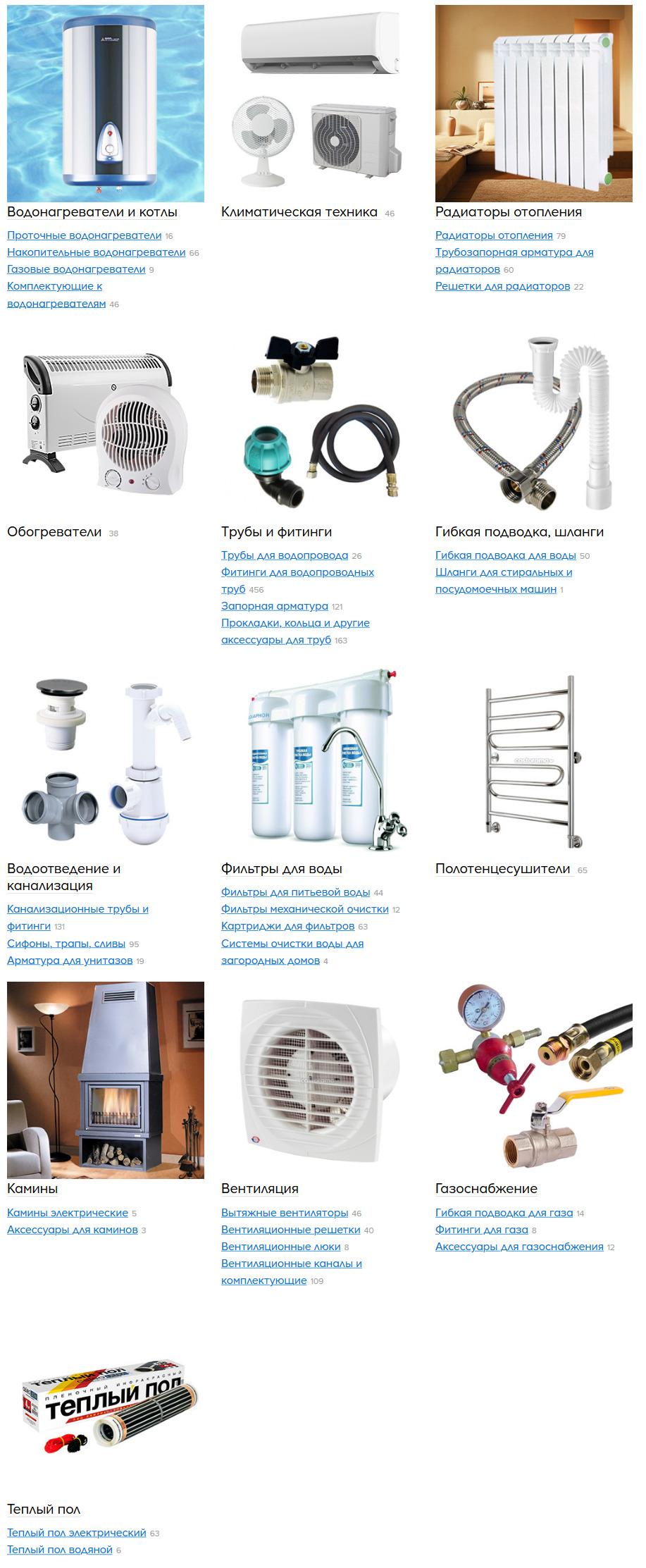 Отопление, охлаждение, водоснабжение и вентиляция